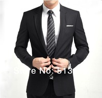 Fashion Men's Slim Suit Man Wedding Suits Business Suit Set Casual One Button Fit Suit Gents Asian Size