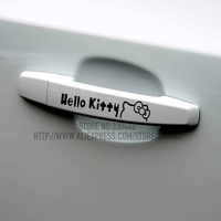 Free Shipping! HELLO KITTY car sticker for doorknob door handle car sticker 4 pairs