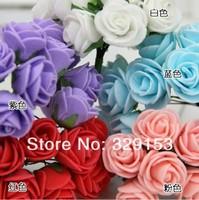 min order $10 Free shipping Dia.2.0-2.5cm 144pcs/bag  PE artificial rose flower / Gife box decoration / ornament foam flower