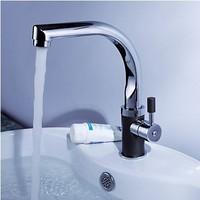 Polished Chromed Kitchen Sink Bathroom Basin Sink Mixer Tap Swivel Faucet  FKK-08