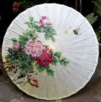Free shipping Dia 84cm chinese water-resistant sunscreen decoration oiled paper umbrella handmade craft women umbrella