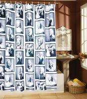 Marilyn Monroe Pattern Shower Curtain Bathroom Waterproof Mildewproof Polyester Fabric With 12 Hooks 180cm*180cm (71 Inch)