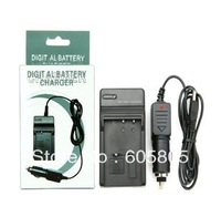 Free shipping 10pcs/lot NP-FE1  Battery Charger with Car Charger Adapter for sony  Digital Camera and Camcorder