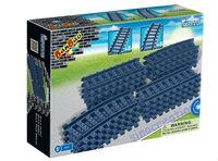 BANBAO Train Series 16pcs/set DIY Train Tracks 8225 Kid's Educational Plastic Building Blocks Toy Free Shipping