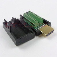 HDMI male connector with screw connector