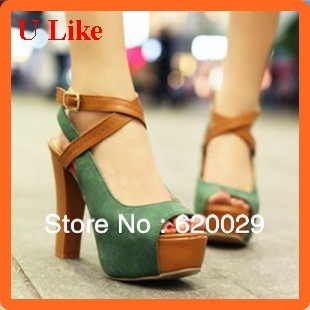 Free Shipping new PU fashion high heel shoes platform lady shoes sexy pumps(China (Mainland))