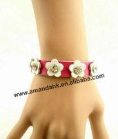 100pcs/lot fashion leather  bracelet for lady 5 colors creative leather bracelet free shipping