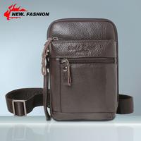 Multifunction Men's Small Retro Casual Vintage Genuine Leather Crossbody Shoulder Messenger Bag For Man NO1007