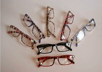 Colorful plastic reading glasses in good quality / colorful slim reading glasses 7 colors accept mixed order 20pcs/lot