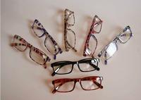 Colorful plastic reading glasses in good quality / colorful slim reading glasses 7 colors accept mixed order 20pcs/lot