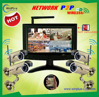2.4GHz 7Inch Digital Wireless P2P PNP Network LCD DVR&IP Camera Home CCTV Security system Kit wireless video surveillance