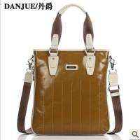 2014 business quality Fashion the man bags sport fashionable mens bag cow real leather handmade man cath bag Danjue brand 8705-2