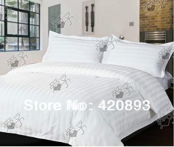 Free Shipping Hotel Bed Linen 40S 100% Cotton Flat Sheet Set 3pcs and 4pcs Bedding Set(China (Mainland))