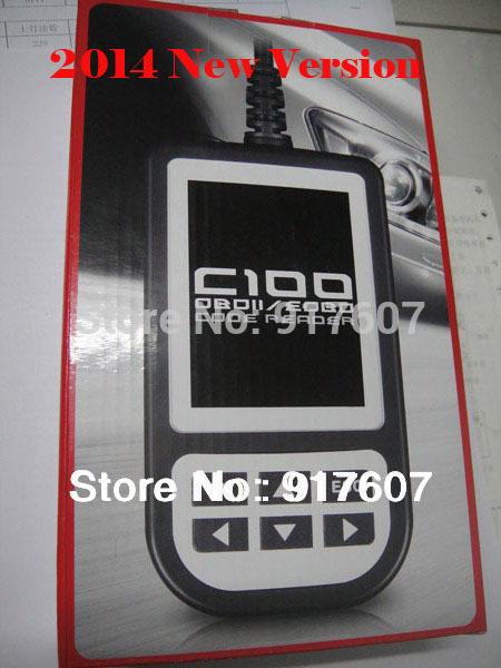 Free shipping 2015 original creator C100 OBD EOBD Auto scanner, OBDii code reader OBD2 Car diagnostic tool(China (Mainland))