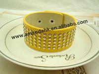 100pcs/lot punk leather  bracelet for lady 2 colors morden stylish leather  bracelet free shipping