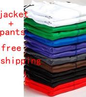 Free Shipping - Fashion Women's/Men's Sports Suit, Sportswear Athletic Clothing Sets Jackets Garment+Pants