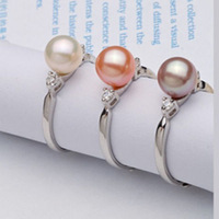 Free shipping  natural pearl ring jewelry    adjustable  great pearl jewelery gift for you from China