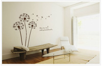 Dandelions flowers home decoration diy vinyl removable wall stickers child love bathroom mirror wall art mural decals quotes