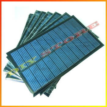 10pcs/lot 6V 270mA 1.6W mini solar panels small solar power 3.6v battery charge solar led light solar cell -10000548