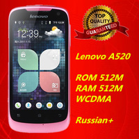 "Original Lenovo A520 MTK6573 Android 2.3 650MHz 4.0""IPS WVGA (800*480)Capacitance Touch Screen 3G Mobile Phone HK Post Free"