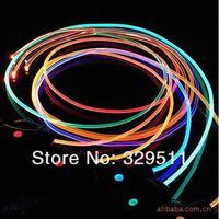 Best Price ! Fast  Free Shipping Hotsale 100 pairs /lot  Fiber Optic LED Shoe Laces , Neon LED Strong Light Flashing Shoelace