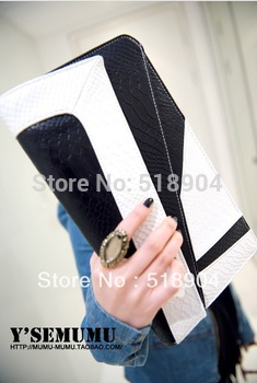 new 2013 in Europe and America to restore ancient ways the snake hit 3 color handbag shoulder straps female bag bag envelope bag