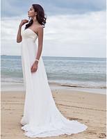 Listen ! Smelling... Yesterday Once M......Sheath/ Column Sweetheart Court Train Chiffon Wedding Dress