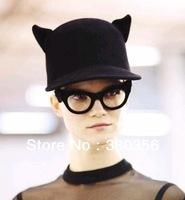 Order of foreign trade in Europe and America 2012 new street style little devil ears pure wool equestrian hat
