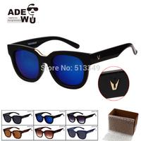 Sale 2pcs/lot Fashion Lunette Round Sunglasses Women Popular Brand Designer Double Blade Sunglass gafas de sol Feminino