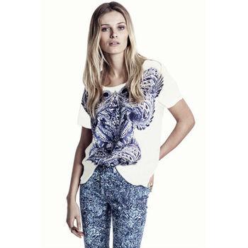 European Style  Fashion    Totem  Print    Round Neck    Short Sleeve Cotton T-Shirt Casual    Free Shipping SIZE XS ~XXL   D081
