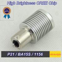 Quality Assurance Led Lamp Car 2 PCS P21W 1156 BA15S CREE 5W DC 12V Turn/  Reverse   Retail and wholesale