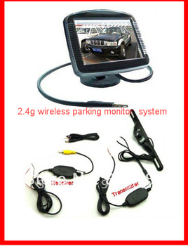 "cheapest Wireless Auto Parking Rearview Camera. Wireless RCA Video Transmitter Receiver Car Camera Connect 3.5"" monitor"