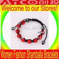 CT920 Shamballa jewelry Wholesale, free shipping Shambhala bracelets, Shamballa Bracelets with Crystal Paved Rhinestone Beads