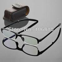 1x TR90 Foldable Folding Black Full Frame Reading Glasses Reader Men Case +1.50