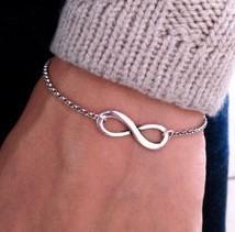 New fashion jewelry gold plated charm Infinity bracelet bijouterie nice gift wholesale B698(China (Mainland))
