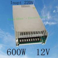led power supply switch 600W  12v  50A ac dc converter  Input 220v S-600w  12v variable dc voltage regulator   S-600-12