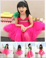 2013 new next wholesale the dress spring female 5pcs/1lot 2~9Age child tulle dress the dress puff