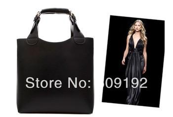 2013 women's dual handbags leather  vintage bag shopping bag shoulder bag handbag black,brown,red color