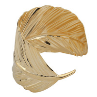 Free Shipping!New Fashion High Quality Bangle Wide Cuff Opened Gold Metal Leaf Bracelet/ Factory Price For Wholesale