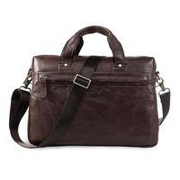 Promotions!! Classic Vintage Leather Men's Laptop Hand Bag 100% Genuine Men Briefcase Messenger Bags