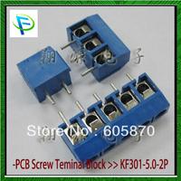 Free shipping 2 Pin Screw Terminal Block Connector 5mm Pitch 100Pcs/Lot 12251