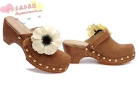 women's shoes clogs genuine leather wedges slippers sandals
