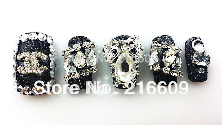 Nail Art 20pcs/Lot 3D Alloy Rhinestones Metal Nail Art Decoration Nail Supply Polish Mate Glitters Slices Mixed 5 Colors
