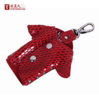 Free Shipping Women's genuine leather key wallet lovers design small clothes keychain male cowhide key bag