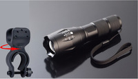 2000 Lumen Flashlight Led Cree T6 XM-L Camping Torch Flash Light The Lamp The Lamps With Mount Holder Set
