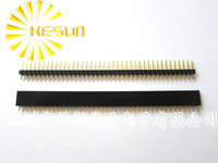 FREE SHIPPING 20PCS 2.54mm 1X40 40Pin Gold-plated Single Row Straight Male & Female Pin Header ROHS Good quality