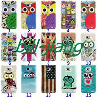 Cartoon Cute Owl Bird design Hard Back Cover Case for Samsung Galaxy S2 SII i9100 MOQ 1pcs/lot by china post