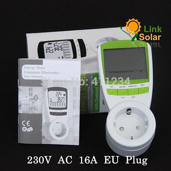 EU Plug Electric Energy Saving Power Meter EU Meter Wireless Watt Consumption Monitor Analyzer Free Shipping(China (Mainland))