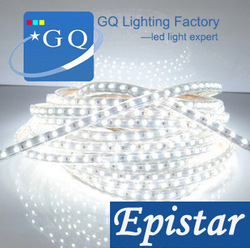manufacturer direct sell 5050 LED strip LED ribbon led tape 220v- 240v 60leds/m Waterproof(China (Mainland))