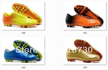 New discount 2013 sports shoes outdoor soccer shoes boots Ronaldo Beckham football shoes men's shoes 6 colors size eur 39-45